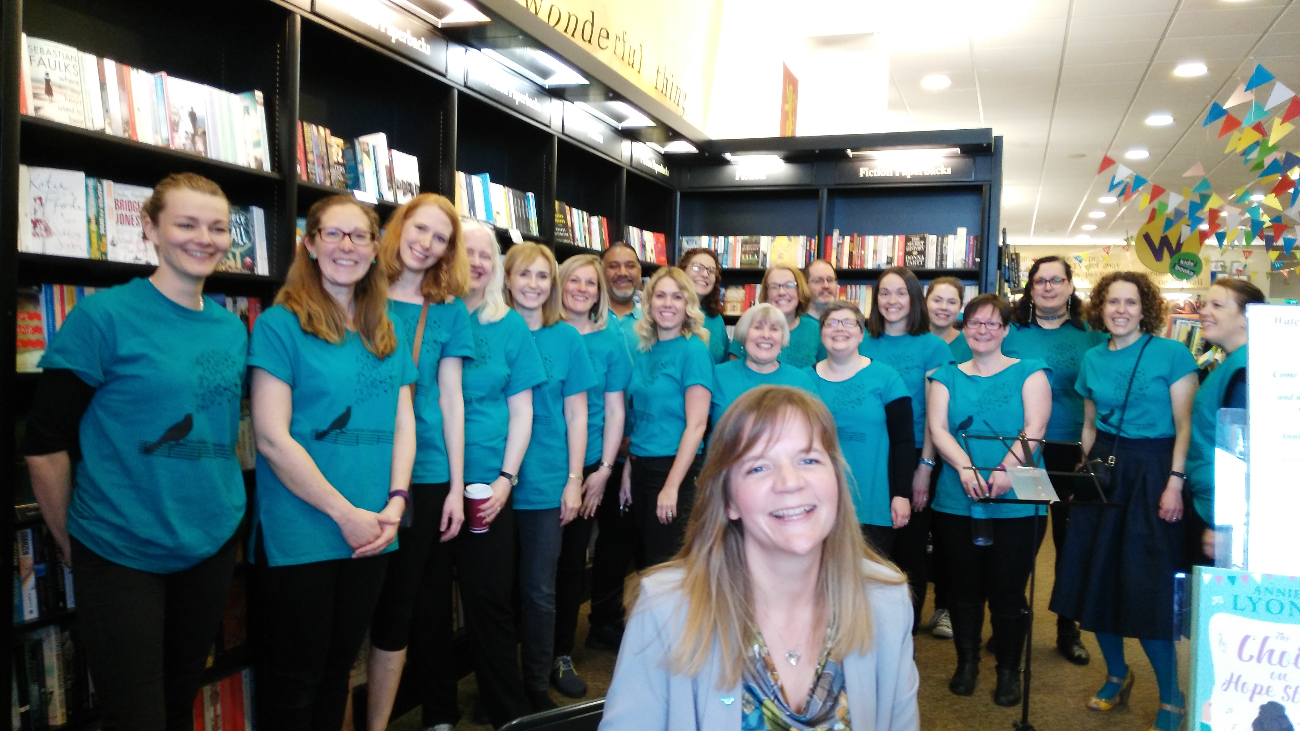 Anniewritesstuff annie lyons and i took my choir and i can honestly say it was the best day of my writing career so far as we walked in and spotted my books fandeluxe Ebook collections